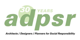 logo ADPSR 30yrs architects designers planners for social responsibility